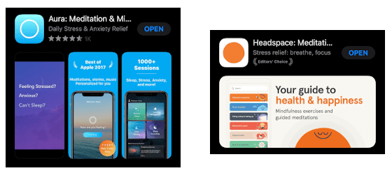 Aura & Headspace on Apple Store